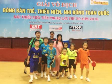 Tham gia thi đấu giải vô địch bóng bàn trẻ, thiếu niên, nhi đồng toàn quốc 2016