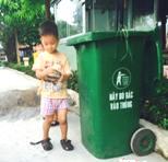Thư kêu gọi ủng hộ thùng rác sử dụng trong trung tâm